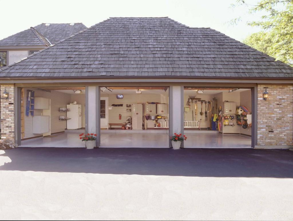 Spring organization - custom garage storage.