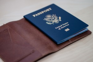 US passport in holder for summer trips