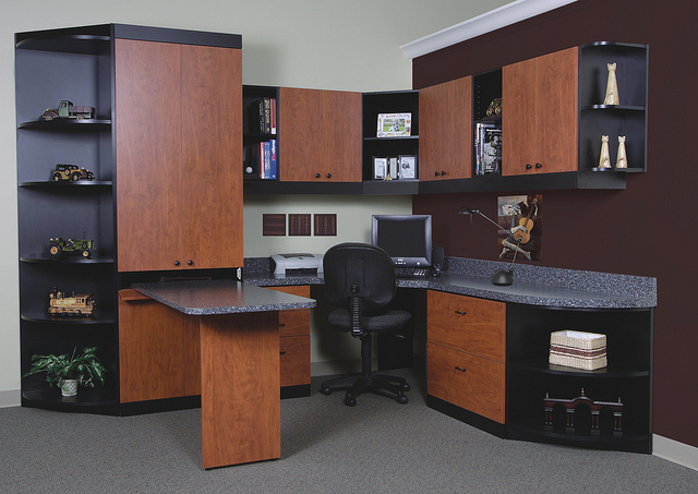 Customized office desk and storage
