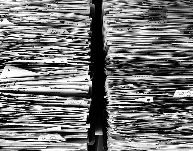 Paper files and clutter