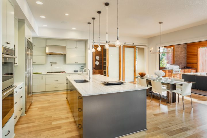 Upscale large organized modern kitchen