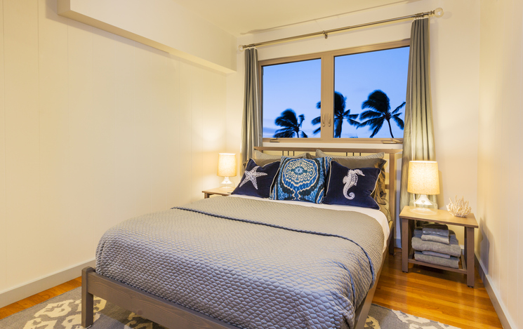 Summer beach bedroom