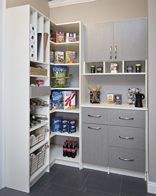Custom pantry and entertaining cabinetry storage
