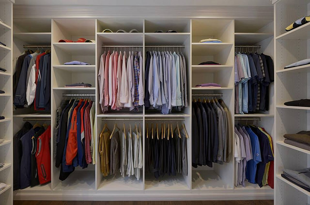 Custom closet shelving cabinets