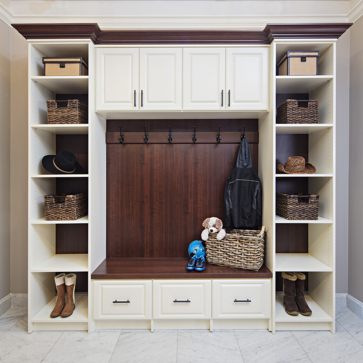 Entryway storage cabinetry Closet & Storage Concepts