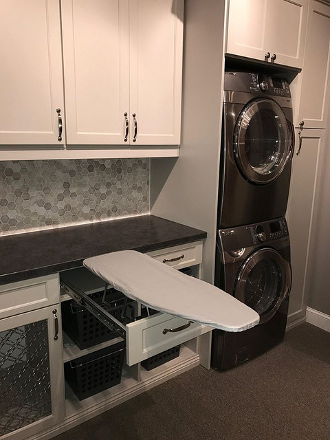 Small laundry room storage cabinets