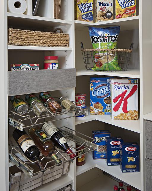 small custom pantry spice racks and shelving