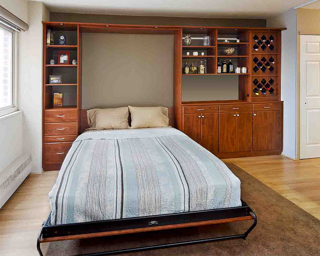 custom wall bed and storage solutions