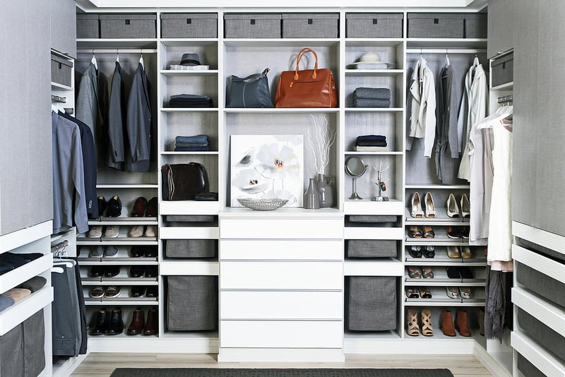 contemporary custom closet storage
