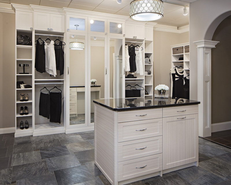 contemporary custom closet design