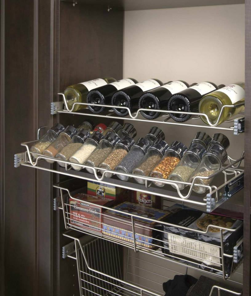 custom wine rack in pantry from Closet & Storage Concepts