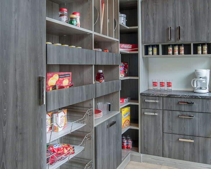 contemporary kitchen pantry cabinetry